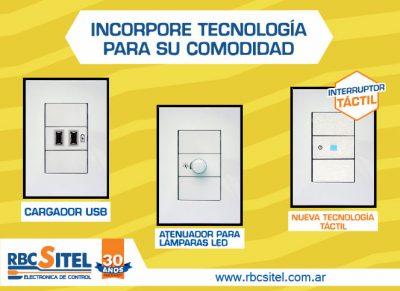 Incorpore tecnología para su comodidad con los módulos de RBC-Sitel