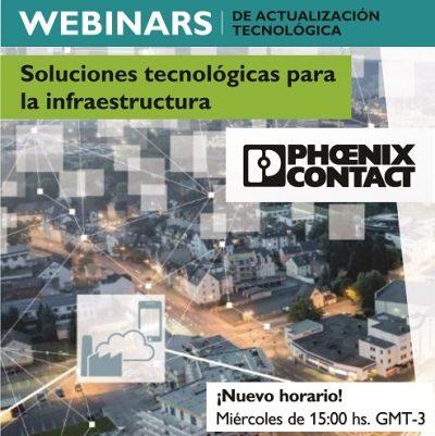 """Webinars """"Soluciones Tecnológicas para la Infraestructura"""" de Phoenix Contact"""